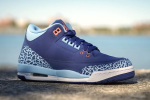 Womens Air Jordan 3 GS Dark Purple Dust/Atomic Pink-Blue Cap Release