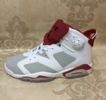 Air Jordan 6 Hare White/Pure Platinum-Gym Red Release